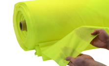 Fluorescent High Visibility Yellow Micro Mesh